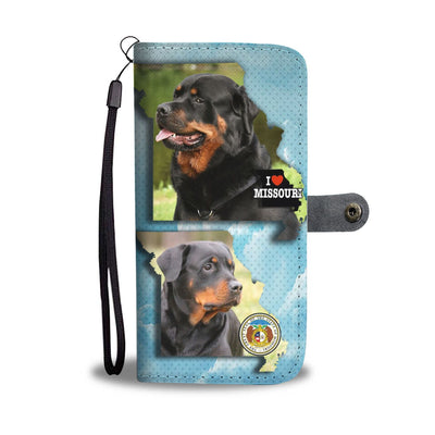 Rottweiler Dog Print Wallet Case-Free Shipping-MO State - Deruj.com
