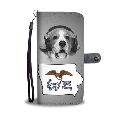 Beagle Dog Print Wallet Case- Free Shipping-IA State - Deruj.com