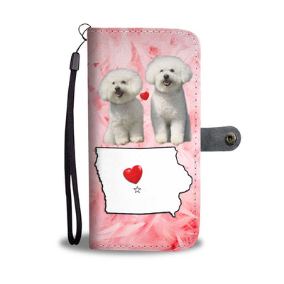 Lovely Bichon Frise Print Wallet Case-Free Shipping- IA State - Deruj.com