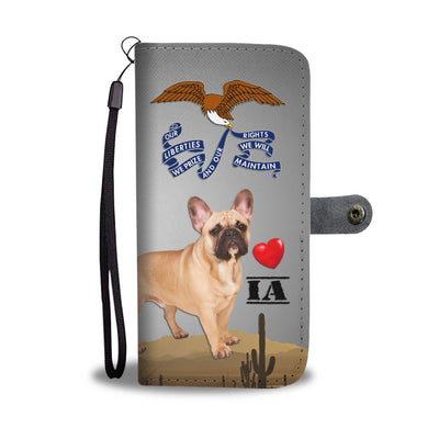 Lovely French Bulldog Print Wallet Case-Free Shipping- IA State - Deruj.com