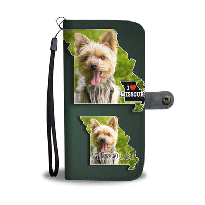 Cute Yorkie Print Wallet Case-Free Shipping-MO State - Deruj.com