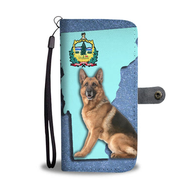 German Shepherd Dog Print Wallet Case-Free Shipping-VT State - Deruj.com