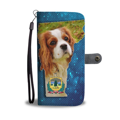 Cavalier King Charles Spaniel Dog Print Wallet Case-Free Shipping-VT State - Deruj.com