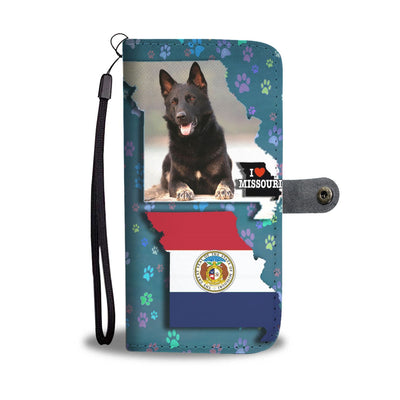 German Shepherd Dog Print Wallet Case-Free Shipping-MO State - Deruj.com