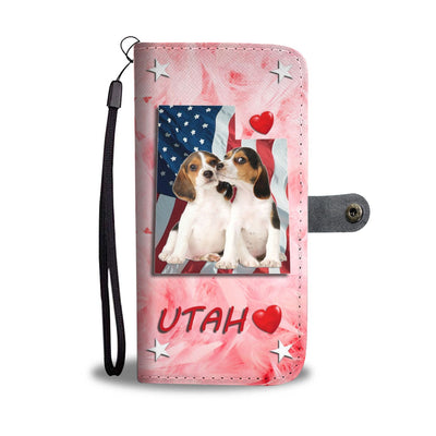 Lovely Beagle Dog Print Wallet Case- Free Shipping-UT State - Deruj.com