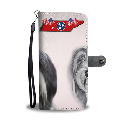 Bearded Collie Print Wallet Case-Free Shipping-TN State