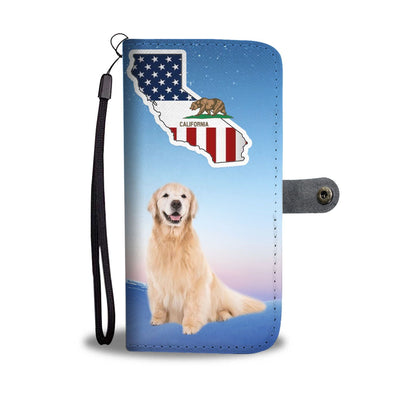 Golden Retriever Print Wallet Case-Free Shipping-CA State - Deruj.com