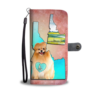 Cute Pomeranian Dog Print Wallet Case-Free Shipping-ID State - Deruj.com