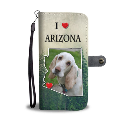 Lovely Basset Hound Print Wallet Case-Free Shipping-AZ State - Deruj.com