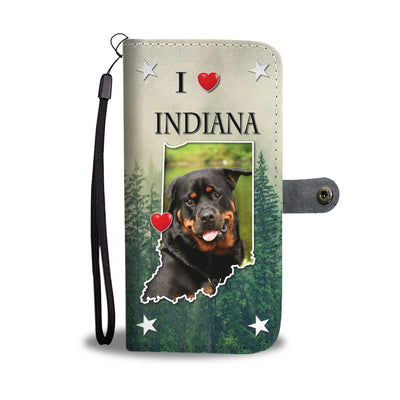 Rottweiler Dog Print Wallet Case-Free Shipping-IN States