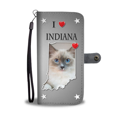 Cute Ragdoll Cat Print Wallet Case-Free Shipping-IN State