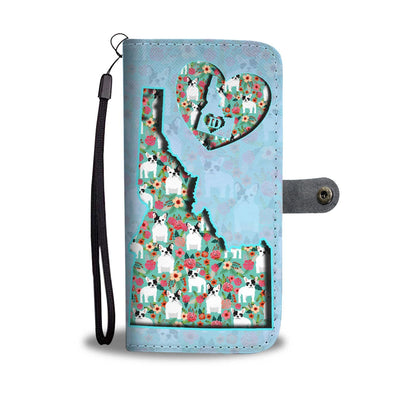 French Bulldog Floral Print Wallet Case-Free Shipping-ID State