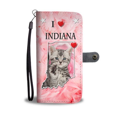 American Shorthair Cat On Pink Print Wallet Case-Free Shiping-IN State - Deruj.com