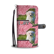 Cute Maltese Dog Print Wallet Case-Free Shipping-NY State - Deruj.com