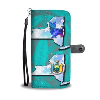 Cute Yorkie Art Print Wallet Case-Free Shipping-NY State