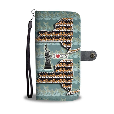 Cardigan Welsh Corgi Pattern Print Wallet Case-Free Shipping-NY State