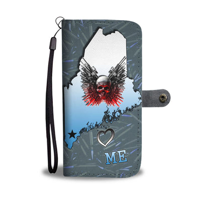 Gun And Skull Print Limited Edition Wallet Case-Free Shipping-ME State - Deruj.com