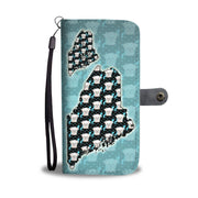 Maltese Dog Pattern Print Wallet Case-Free Shipping-ME State
