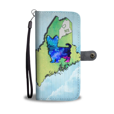 Cute Yorkie Art Print Wallet Case-Free Shipping-ME State