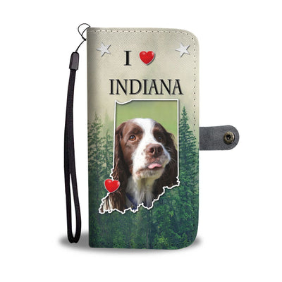 English Springer Spaniel Print Wallet Case-Free Shipping-IN State - Deruj.com