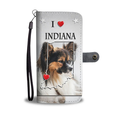 Cute Papillon Dog Print Wallet Case-Free Shipping-IN State - Deruj.com
