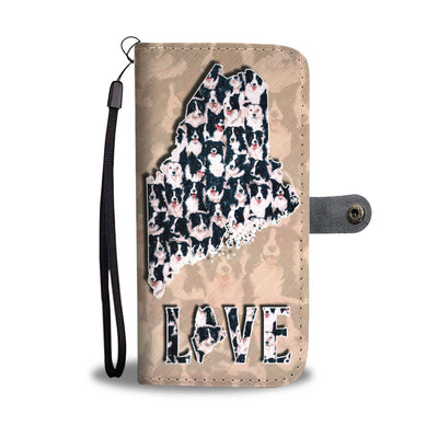 Border Collie In Lots Print Wallet Case-Free Shipping-ME State - Deruj.com