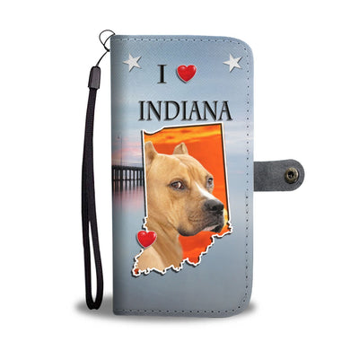 Staffordshire Terrier Print Wallet Case-Free Shipping-IN State - Deruj.com
