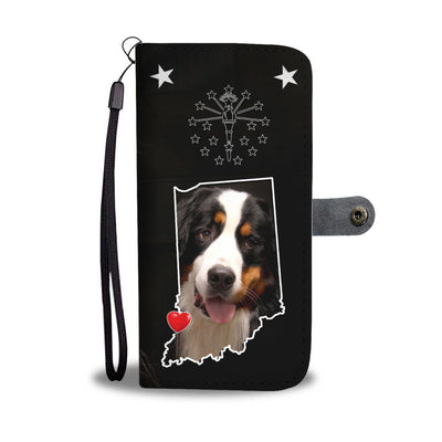 Cute Bernese Mountain Dog Print Wallet Case-Free Shipping-IN State