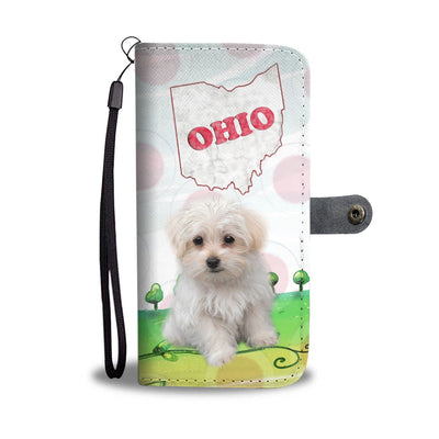 Cute Maltese Dog Print Wallet Case-Free Shipping-OH State - Deruj.com
