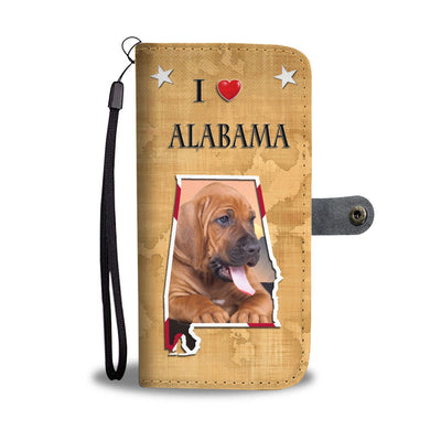 Bloodhound Print Wallet Case-Free Shipping-AL State