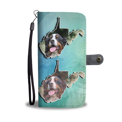 Bernese Mountain Dog Print Wallet Case-Free Shipping-WV State - Deruj.com