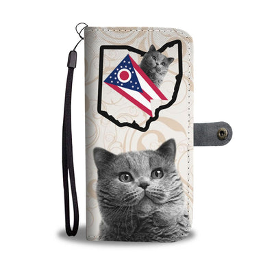 British Shorthair Cat Print Wallet Case-Free Shipping-OH State - Deruj.com