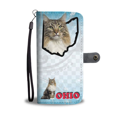 Norwegian Forest Cat Print Wallet Case-Free Shipping-OH State - Deruj.com