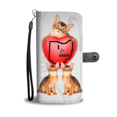 Abyssinian Cat Print Wallet Case-Free Shipping-OH State - Deruj.com