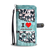 Border Collie Dog In Lots Print Wallet Case-Free Shipping-OK State - Deruj.com