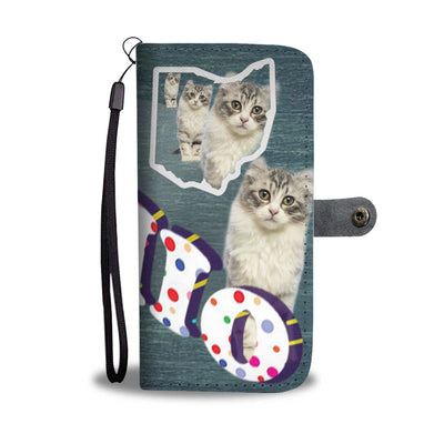 American Curl Cat 3D Print Wallet Case-Free Shipping-OH State - Deruj.com