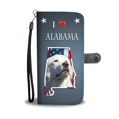 Cute Great Pyrenees Print Wallet Case-Free Shipping-AL State - Deruj.com