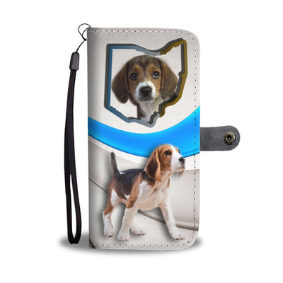 Beagle Dog Print Wallet Case-Free Shipping-OH State - Deruj.com