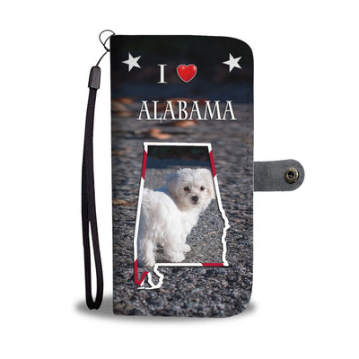 Lovely Maltese Dog Print Wallet Case-Free Shipping-AL State - Deruj.com