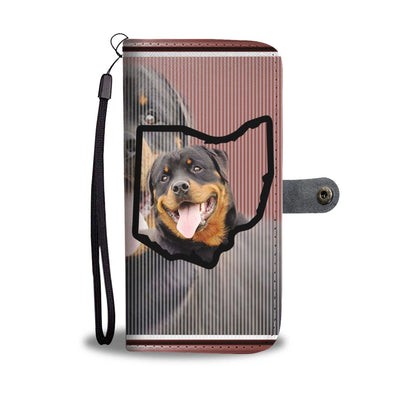 Rottweiler Print Wallet Case-Free Shipping-OH State - Deruj.com