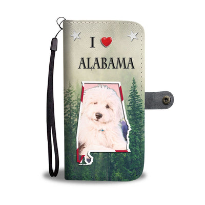 Old English Sheepdog Print Wallet Case-Free Shipping-AL State