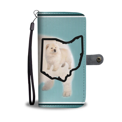 Chow Chow Dog Print Wallet Case-Free Shipping-OH State - Deruj.com