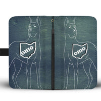Great Dane Dog Print Wallet Case-Free Shipping-OH State - Deruj.com