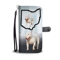 Bull Terrier Print Wallet Case-Free Shipping-OH State - Deruj.com