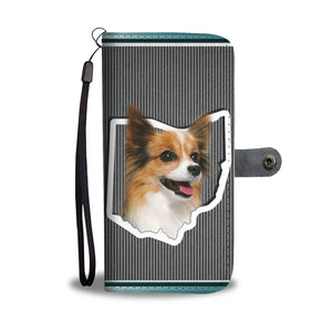 Papillon Dog Print Wallet Case-Free Shipping-OH State - Deruj.com