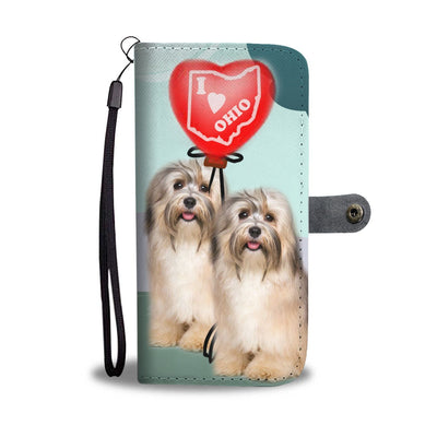 Havanese Dog Print Wallet Case-Free Shipping-OH State - Deruj.com