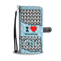 Boston Terrier Dog Love Print Wallet Case-Free Shipping-OK State - Deruj.com