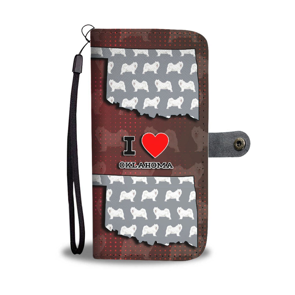 Samoyed Dog Pattern Print Wallet Case-Free Shipping-OK State - Deruj.com