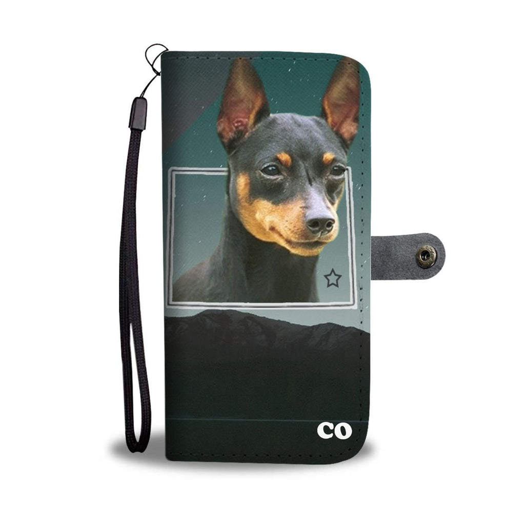 Miniature Pinscher Print Wallet Case-Free Shipping-CO State - Deruj.com