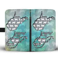 Samoyed Dog Pattern Print Wallet Case-Free Shipping-WV State - Deruj.com